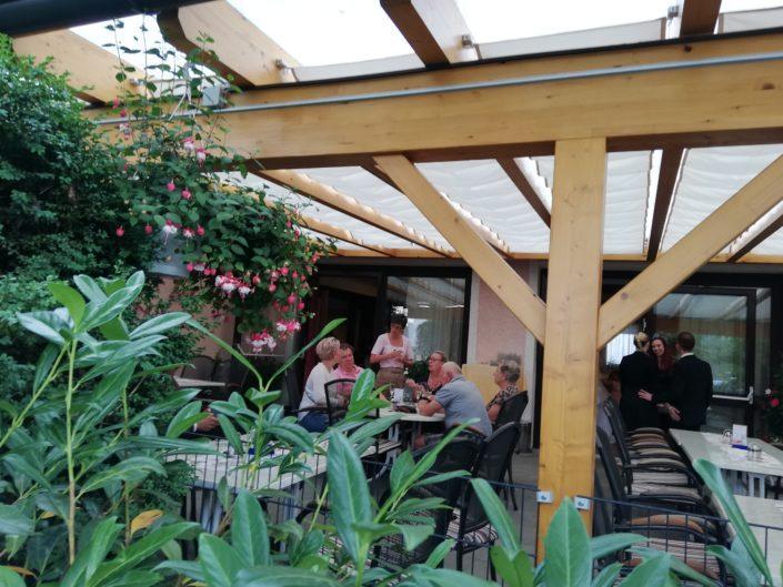 Seilzugmarkise Gasthaus Raabahof